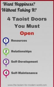 """How to Become Happy–4 Taoist Doorways"""