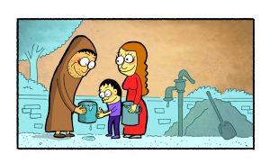 Taoist wise man provides spiritual water